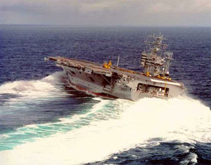An aircraft carrier turning sharply on the sea needs the right o-rings and seals!